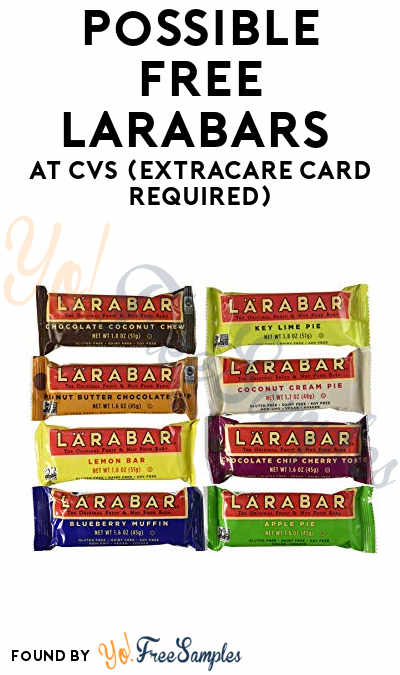 Possible FREE Larabars At CVS (ExtraCare Card Required)