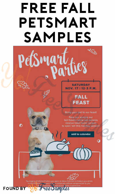 TODAY: FREE Fall PetSmart Samples Open House