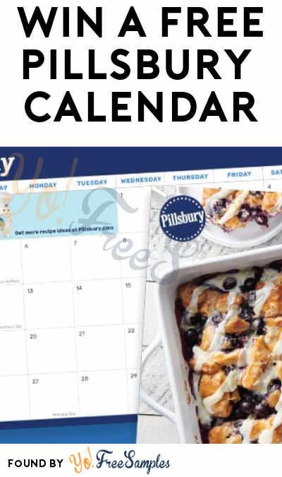 Win A FREE Pillsbury 2019 Calendar