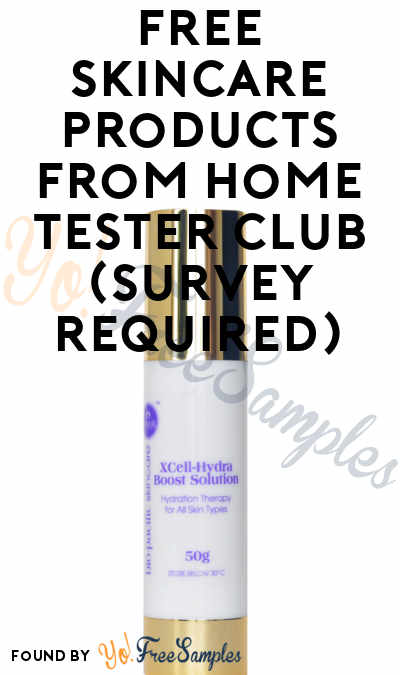 FREE Skincare Products From Home Tester Club (Survey Required)