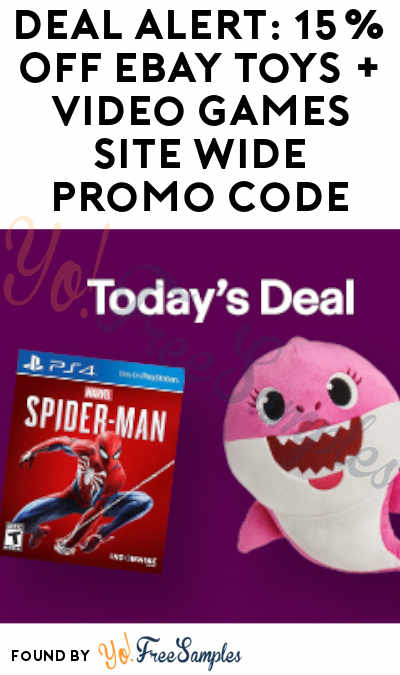 DEAL ALERT: 15% OFF eBay Toys + Video Games Site Wide Promo Code