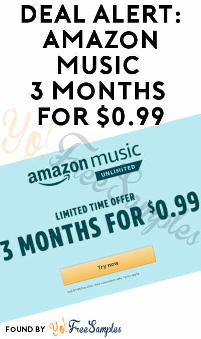 DEAL ALERT: Amazon Music 3 Months For $0.99