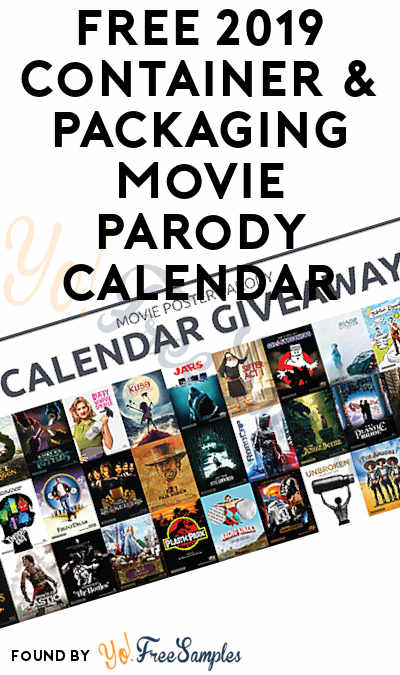 FREE 2019 Container & Packaging Movie Parody Calendar