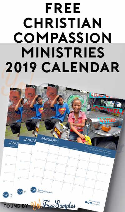 FREE Christian Compassion Ministries 2019 Calendar