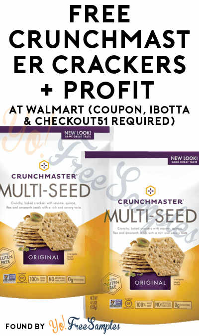 FREE Crunchmaster Crackers + Profit At Walmart (Coupon, Ibotta & Checkout51 Required) [Verified]
