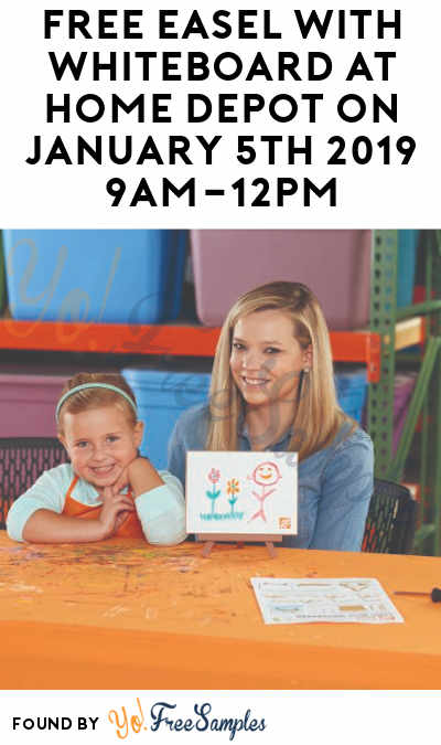 FREE Easel With Whiteboard At Home Depot on January 5th 2019 9AM-12PM