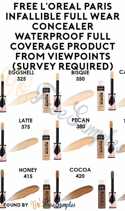 FREE L'Oreal Paris Infallible Full Wear Concealer Waterproof Full Coverage Product From ViewPoints (Survey Required)