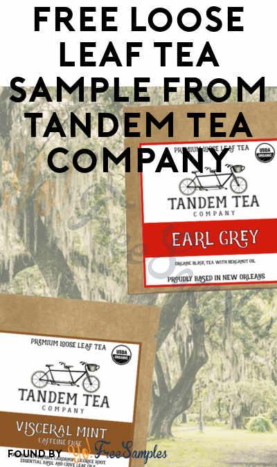 FREE Loose Leaf Tea Sample From Tandem Tea Company