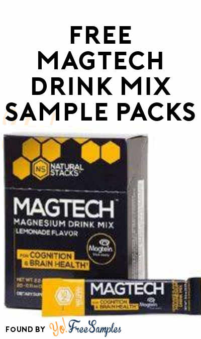 FREE MagTech Drink Mix Sample Packs (Facebook Required)