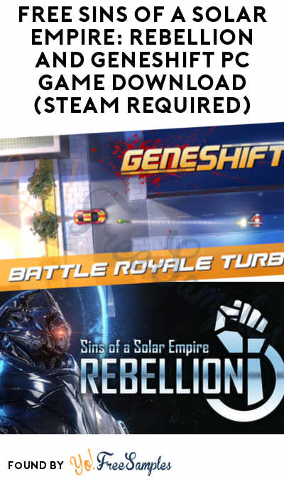FREE Sins of a Solar Empire: Rebellion and Geneshift PC Game Download (Steam Required)