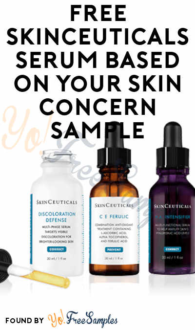 New Offer! FREE SkinCeuticals Serum Sample