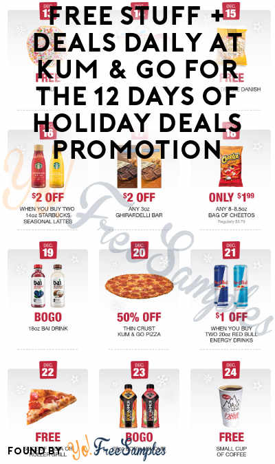 FREE Small Coffee At Kum & Go For The 12 Days of Holiday Deals Promotion