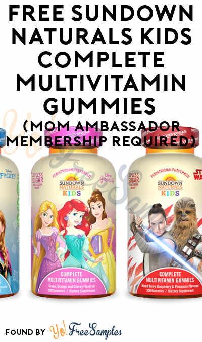 FREE Sundown Naturals Kids Complete Multivitamin Gummies (Mom Ambassador Membership Required)