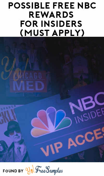 Possible FREE NBC Rewards For Insiders (Must Apply)