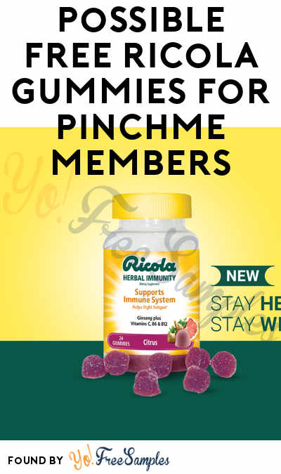 FREE Ricola Gummies For New PINCHme Members
