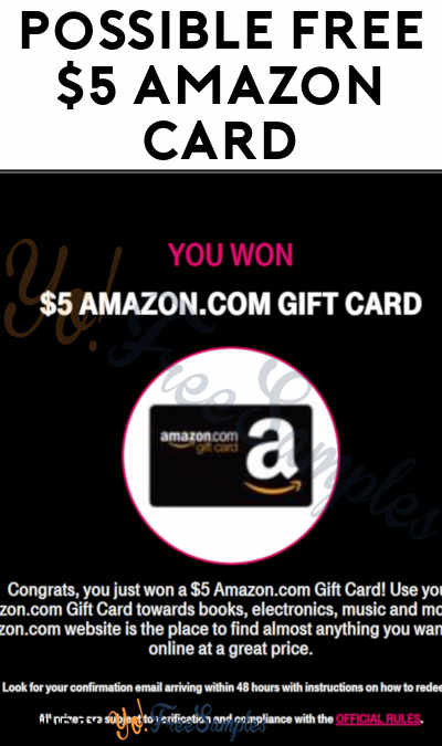 Possible FREE $5 Amazon Gift Card (Phone # Required)