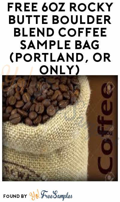 FREE Rocky Butte Boulder Blend Coffee Sample Bag (Portland, OR Only)