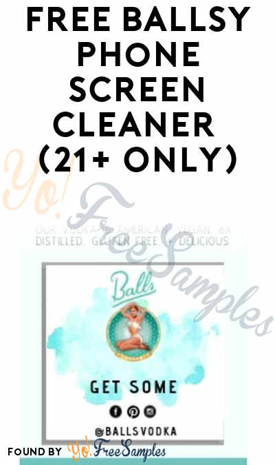 FREE Ballsy Phone Screen Cleaner (21+ Only)