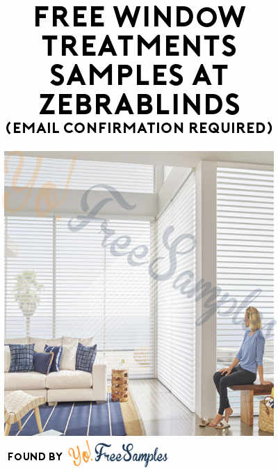 FREE Window Treatments Samples at ZebraBlinds (Email Confirmation Required)
