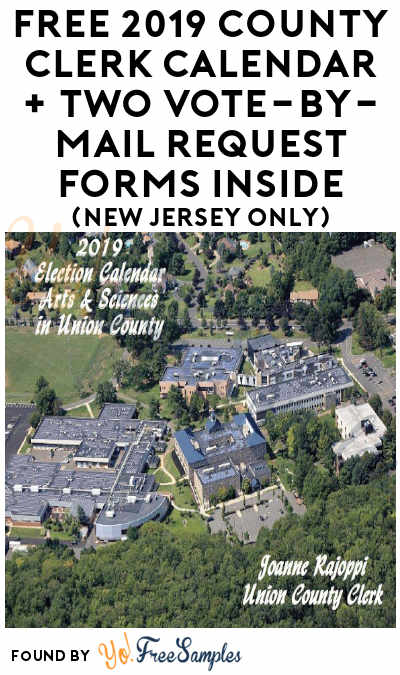 FREE 2019 County Clerk Calendar + Two Vote-by-Mail Request Forms Inside (New Jersey Only)