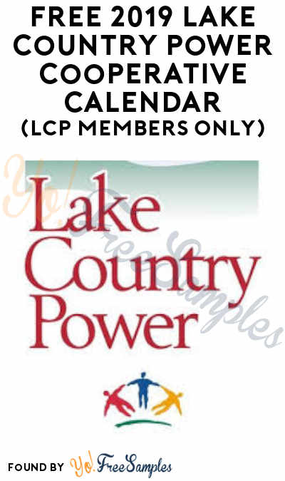 FREE 2019 Lake Country Power Cooperative Calendar (LCP Members Only)