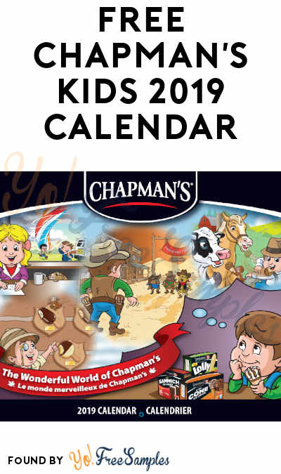 FREE Chapman's Kids 2019 Calendar