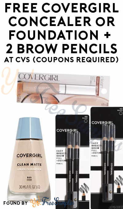 FREE CoverGirl Concealer or Foundation or 3-Kit Eye Enhancers + 2 Brow Pencils At CVS (Coupons Required)