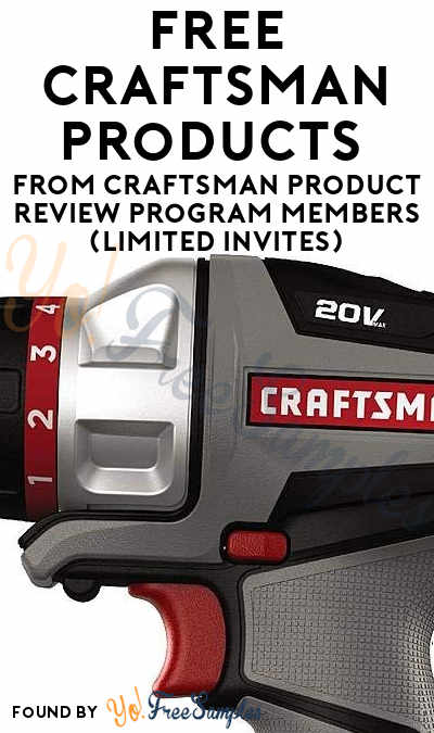 FREE Craftsman Products From Craftsman Product Review Program Members (Limited Invites)