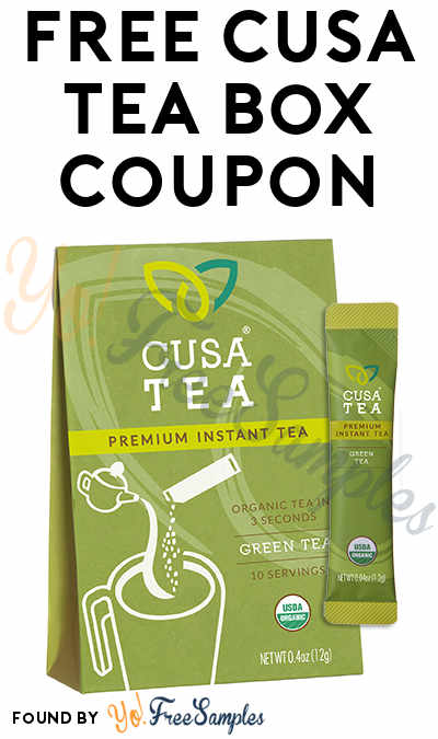FREE Full-Size Cusa Instant Tea Box Coupon