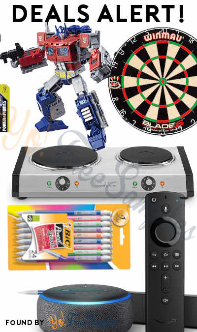 DEALS ALERT: Fire TV 4K Bundle, Dartboard, Cast-Iron Double Burner, Transformers Toy, Tons Of BIC Products & More
