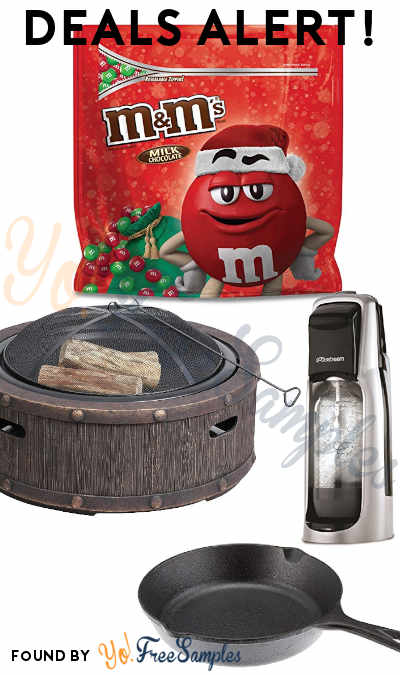 DEALS ALERT: Christmas M&M'S, Sun Joe Fire Pit, SodaStream, Lodge Cast Iron Skillet & More From Amazon, Best Buy & Walmart