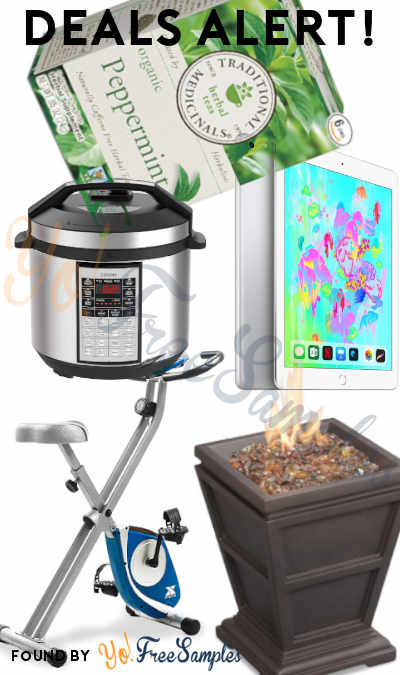 DEALS ALERT: Apple iPad 128GB, Herbals Teas Peppermint 96-Pack, COSORI Pressure Cooker, Folding Exercise Bike, Gas Firepit & More