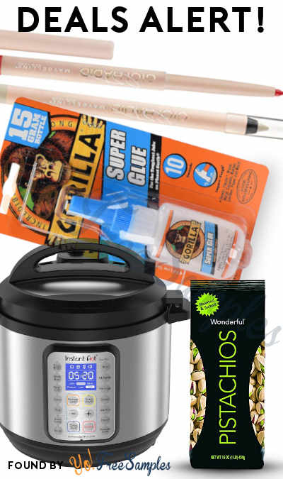 DEALS ALERT: Maybelline Gigi Hadid Lip + Eye Liner, 8 Qt Instant Pot DUO, Wonderful Pistachios, Gorilla Super Glue & More