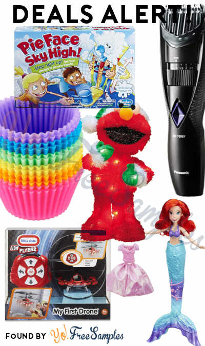 DEALS ALERT: Disney Princess Splash Surprise Ariel, Little Tikes My First Drone, Reusable Silicone Baking Cups, Wet + Dry Cordless Trimmer, Pie Face Sky High Game & More