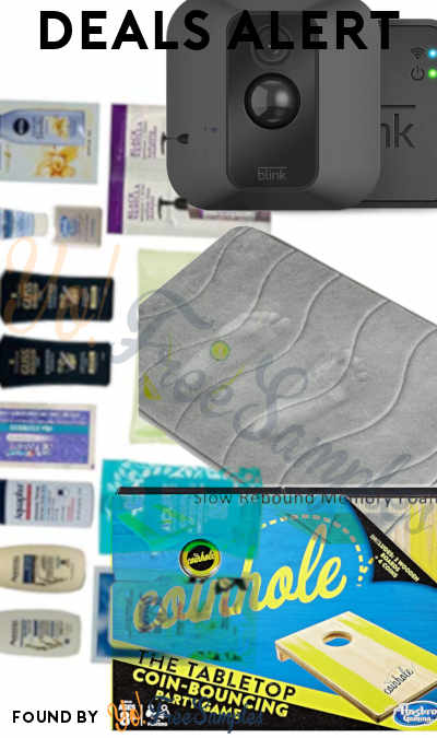 DEALS ALERT: Skincare + Haircare Box, Memory Foam Mat, Blink XT Home Security Camera System, Coinhole Game & More