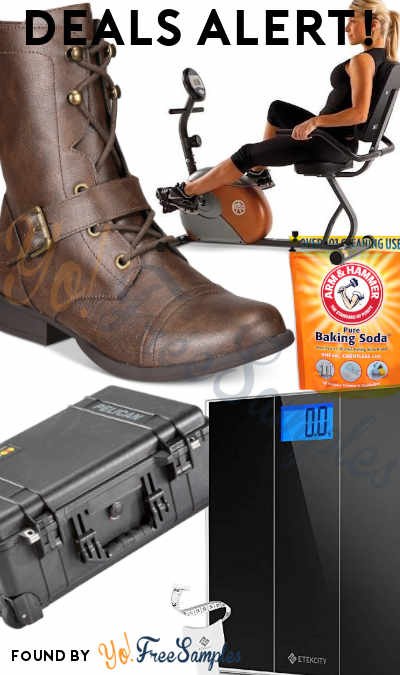 DEALS ALERT: Pelican Case, Etekcity Scale, rowing Machine, Exercise Bike, Farahh Combat Booties, Baking Soda & More