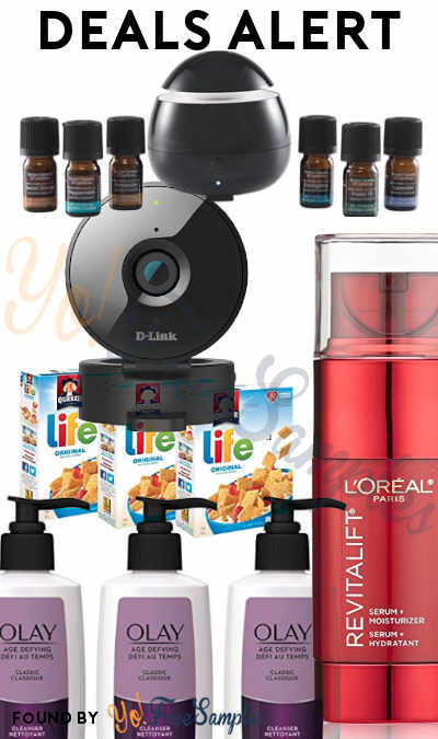 DEALS ALERT: Aroma Diffuser Set, L'Oreal Revitalift, Olay Age Defying Facial Cleanser, Life Original Cereal, D-Link Security Camera & More