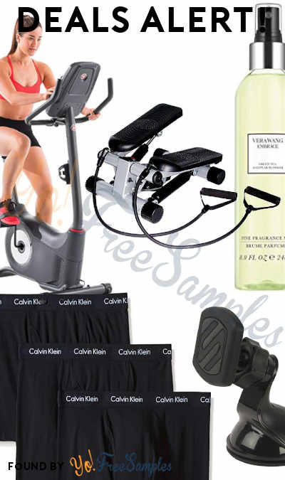 DEALS ALERT: Upright Bike, Mini Stepper + Resistance Bands, Vera Wang Embrace Body Mist, Universal Phone Mount, Calvin Klein Boxers & More