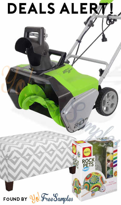 DEALS ALERT: Snowblowers, Storage Ottoman, Rock Pets & More From Walmart & Amazon