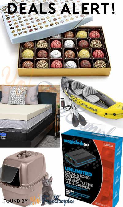 DEALS ALERT: Godiva Chocolate, Swedish Fish, Sealy Topper, Kayak, Essential Oils, Cat Pan/Litter Box & More At Amazon + Walmart