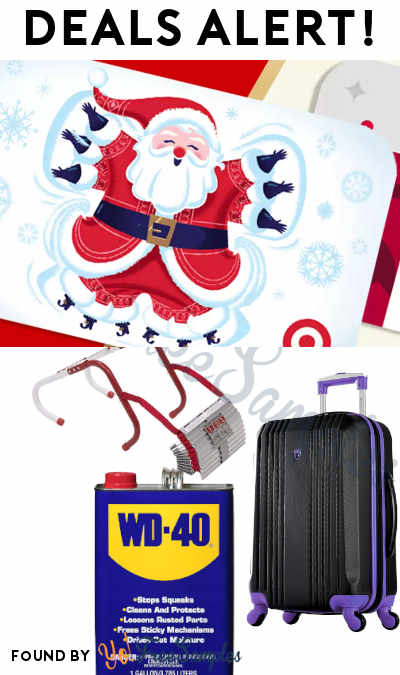 DEALS ALERT: 10% Off Target Gift Cards, Carry-on Luggage, WD-40, Fire Escape Ladder, Christmas Light Projector & More From Walmart, Target + Amazon