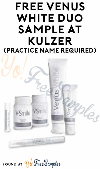 FREE Venus White Duo Sample At Kulzer (Practice Name Required)