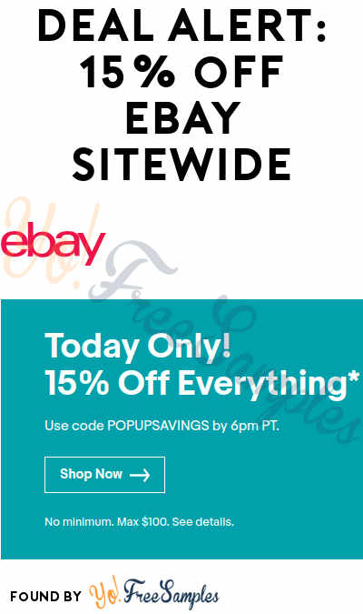 DEAL ALERT: 15% OFF Everything Site Wide Promo Code