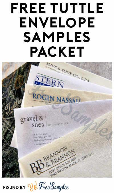 FREE Tuttle Envelope Samples Packet