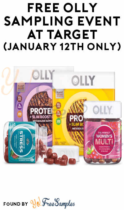 TODAY: FREE Olly Sampling Event At Target (January 12th Only)