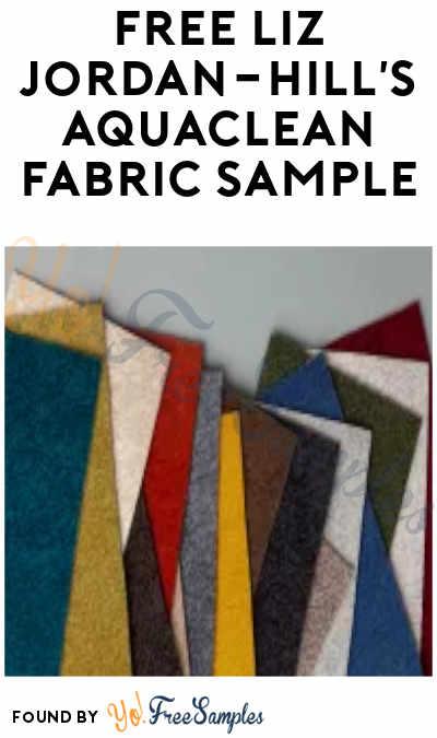 FREE Liz Jordan-Hill's Aquaclean Fabric Sample