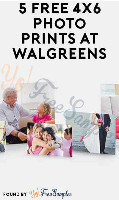 Mobile App Only: 5 FREE 4X6 Photo Prints At Walgreens