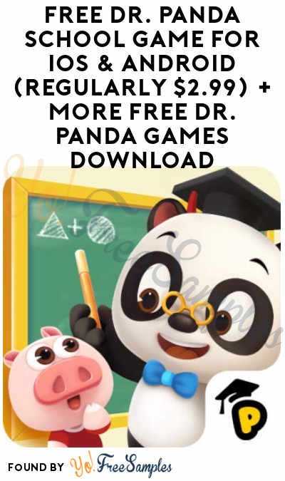 FREE Dr. Panda School Game for iOS & Android (Regularly $2.99) + More Free Dr. Panda Games Download