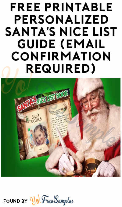 FREE Printable Personalized Santa's Nice List Guide (Email Confirmation Required)