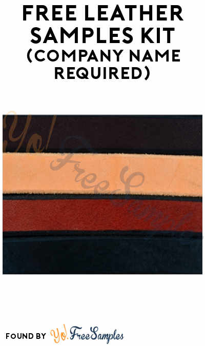 FREE Leather Samples Kit (Company Name Required)